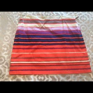 Orange and purple Limited striped skirt